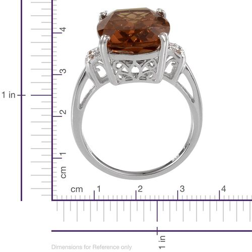 Alexite (Cush 8.75 Ct), Diamond Ring in Platinum Overlay Sterling Silver 8.770 Ct.