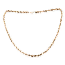 Designer Inspired - Royal Bali Collection 9K Yellow Gold Rope Necklace (Size 20), Gold wt 12.30 Gms.