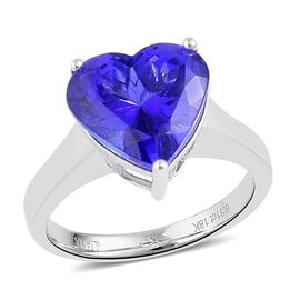 ILIANA AAA Tanzanite (6.25 Ct) 18K W Gold Ring  6.250  Ct.