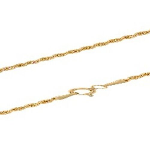 Surabaya Gold Collection 9K Yellow Gold Diamond Cut Rope Necklace (Size 20), Gold wt. 8.90 Gms.