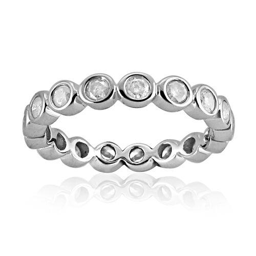 Constellation 9K White Gold SGL Certified Diamond (Rnd) (I3/G-H) Full Eternity Ring 0.500 Ct.