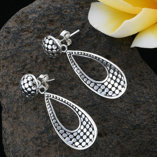 Royal Bali Collection Sterling Silver Drop Earrings, Silver wt 4.66 Gms.