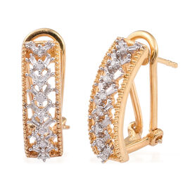 Diamond (Rnd) Earrings (with French Clip) in 14K Gold Overlay Sterling Silver 0.330 Ct.