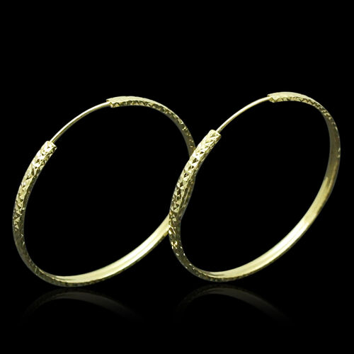 Royal Bali Collection 9K Y Gold Hoop Earrings
