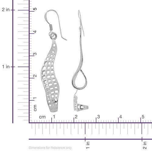 Thai Sterling Silver Hook Earrings, Silver wt 3.99 Gms.