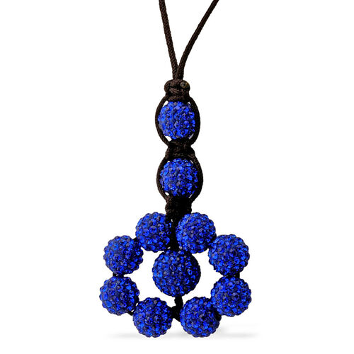 Blue Austrian Crystal Tranquility Necklace (Adjustable)