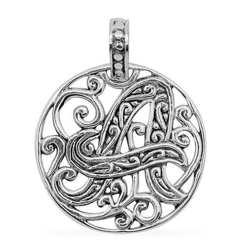 Royal Bali Collection Sterling Silver Initial A Pendant, Silver wt 3.70 Gms.