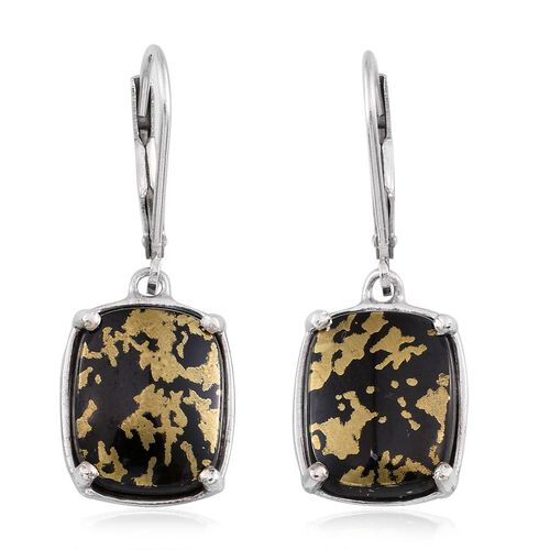 Goldenite (Cush) Lever Back Earrings in Platinum Overlay Sterling Silver 9.500 Ct.