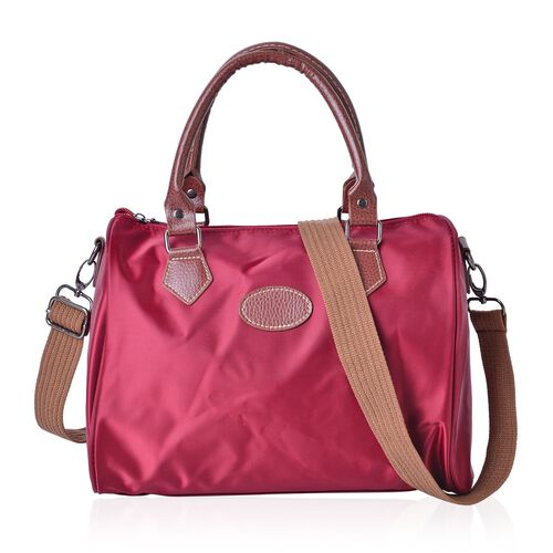 Burgundy Light Weight Water Resistant Bag with Adjustable Shoulder Strap (Size 28X21X18 Cm)