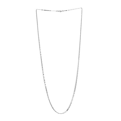 JCK Vegas Collection Sterling Silver Valentino Chain (Size 30), Silver wt 4.00 Gms.