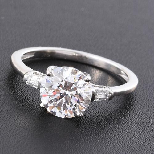 J Francis - 9K White Gold Ring Made with SWAROVSKI ZIRCONIA