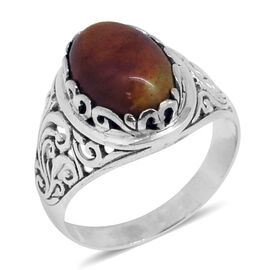 One Time Deal-Royal Bali Collection Mookite (Ovl) Solitaire Ring in Sterling Silver 5.860 Ct. Silver wt. 4.00 Gms.