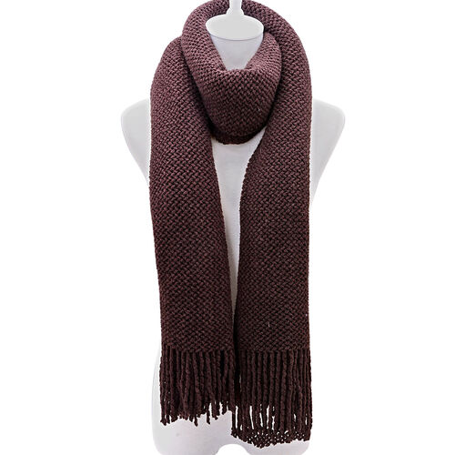 New For the Season- Dark Chocolate Colour Scarf (Size 210x90 Cm)