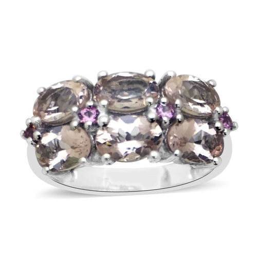 Close Out Deal 9K W Gold Marropino Morganite (Ovl), Pink Tourmaline Ring 2.330 Ct.