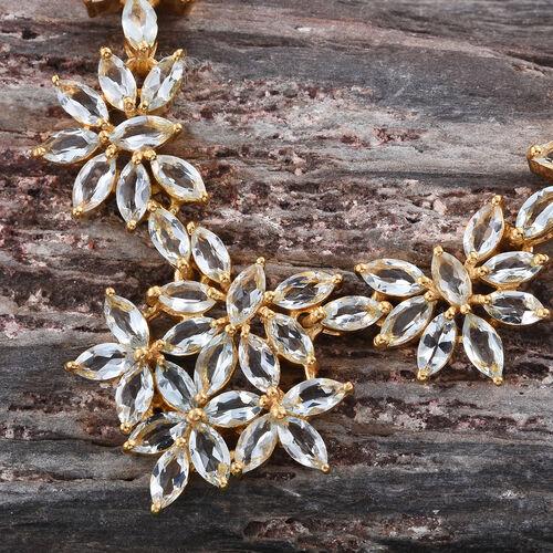 Espirito Santo Aquamarine (Mrq) Necklace (Size 18) in 14K Gold Overlay Sterling Silver 11.250 Ct.