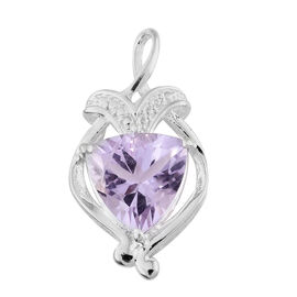 Rose De France Amethyst (Trl) Solitaire Pendant in Sterling Silver 2.750 Ct.