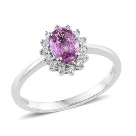 RHAPSODY 950 Platinum AAAA Pink Sapphire (Ovl), Diamond (VS/E-F) Ring 1.100 Ct.