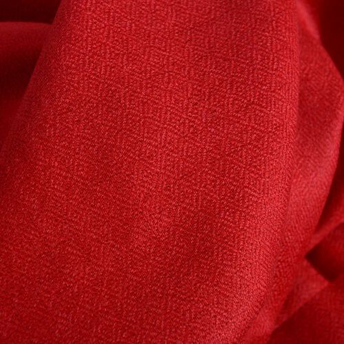 Limited Available - 100% Cashmere Wool Red Colour Shawl (Size 200x70 Cm)