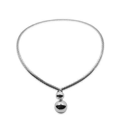 Royal Bali Collection Sterling Silver Necklace (Size 16), Silver wt 22.00 Gms.