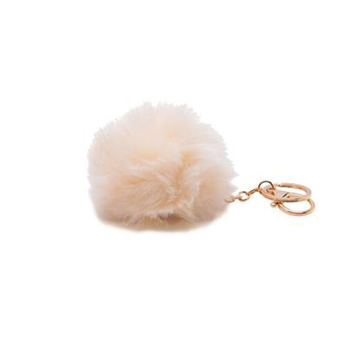 Cream Colour POM POM Key Chain