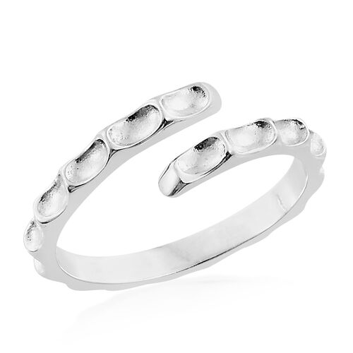 Silver Stacker Ring in Platinum Overlay, Silver wt. 1.94 Gms.