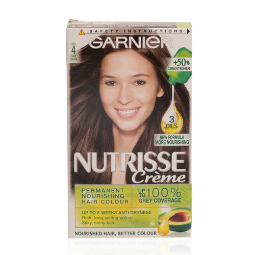 Garnier Nutrisse Cocoa 4 Dark Brown Permanent Hair Dye