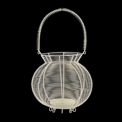 Home Decor - Handicraft Lantern Made of White Wire