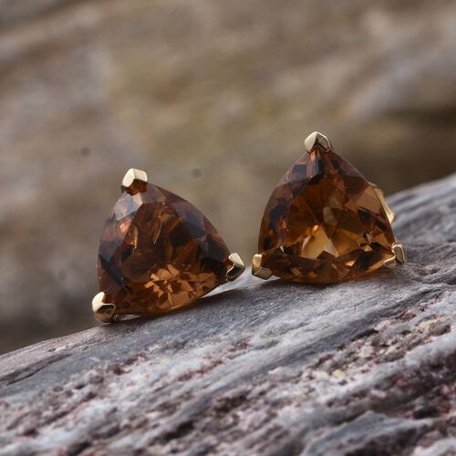 Alexite (Trl) Stud Earrings (with Push Back) in 14K Gold Overlay Sterling Silver 5.000 Ct.