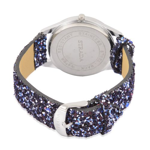 Navy and Silver Sparkle Scarf and Watch Set