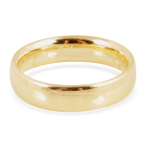 Limited Edition Hand Polished Heavy Weight 9K Y Gold Band Ring