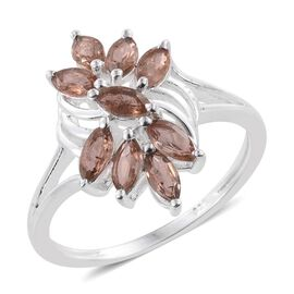 Jenipapo Andalusite (Mrq) Ring in Sterling Silver 1.250 Ct.