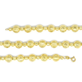 Limited Edition- 9K Y Gold Diamond Cut Ball Bead Necklace (Size 24), Gold wt 29.30 Gms.