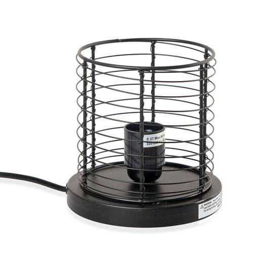 OTO - Natural Pink Himalayan Rock Salt Basket Lamp - With 1.6KG Salt Bag -  Cylindrical