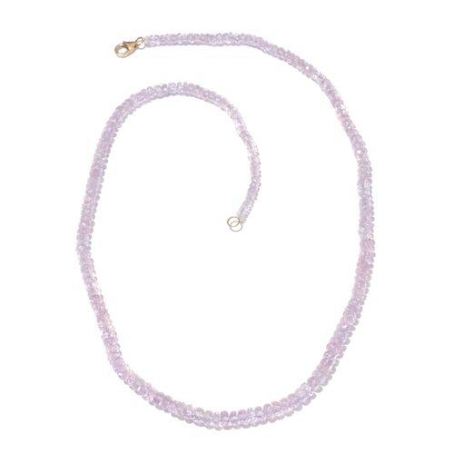Limited Edition ILIANA 18K Y Gold AAAA Very Rare Marropino Morganite Necklace (Size 18) 57.150 Ct.