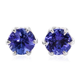ILIANA 18K W Gold AAA Tanzanite (Rnd) Stud Earrings (with Screw Back) 2.250 Ct.