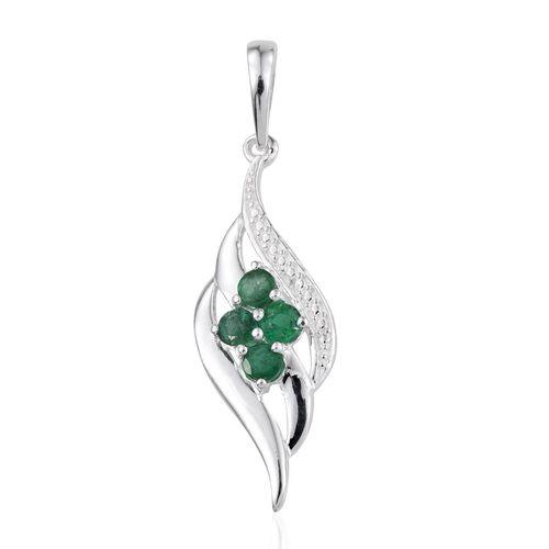 Brazilian Emerald (Rnd) Pendant in Sterling Silver 0.500 Ct.