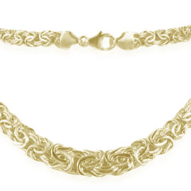 9K Yellow Gold Graduated Byzantine Necklace (Size 20), Gold Wt. 14.61 Gms.