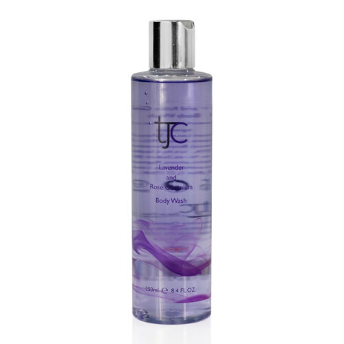 (Option 2) TJC Lavender and Rose Geranium Luxury Body Wash 250ml