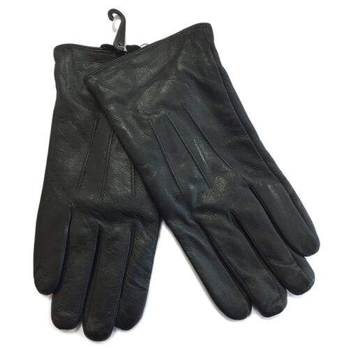 Mens Genuine leather Black Colour Gloves (Large/ Extra Large) dispatch within 3-5 working days (Size 22 Cm)