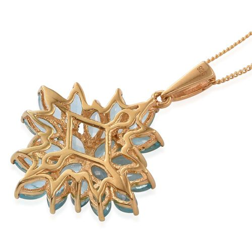 Paraiba Apatite (Mrq) Pendant with Chain in 14K Gold Overlay Sterling Silver 5.250 Ct.