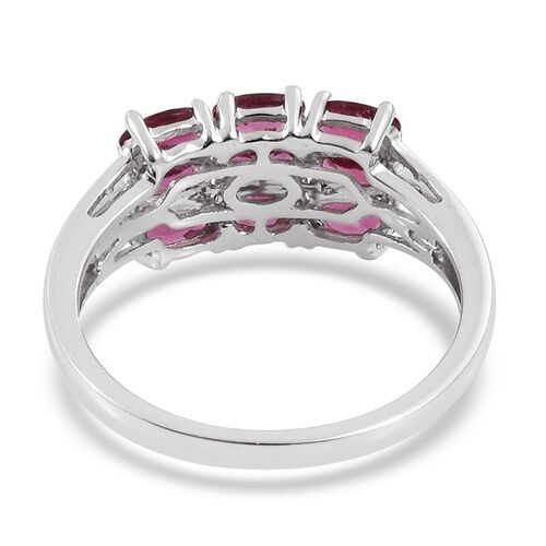 Limited Edition - 9K W Gold AAA Ouro Fino Rubelite (Ovl) Ring 2.000 Ct. Gold Wt 3.36 Gms
