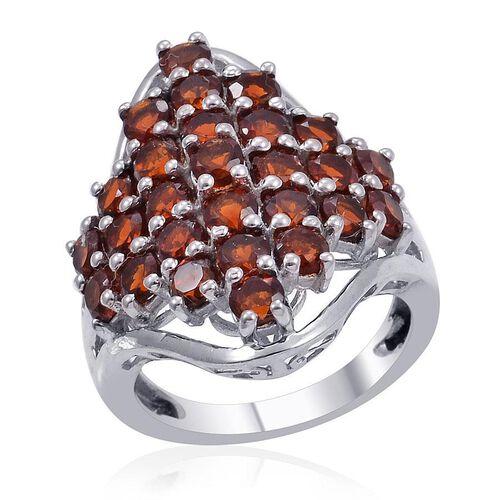 Madeira Citrine (Rnd) Cluster Ring in Platinum Overlay Sterling Silver 2.750 Ct.