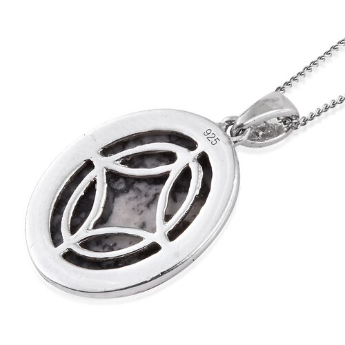 Austrian Pinolith (Ovl) Pendant With Chain in Platinum Overlay Sterling Silver 10.250 Ct.