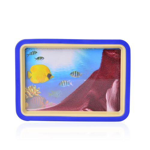 Home Decor - Fish Design Sand-Art Picture with Mirror on Back (Size 19.2X13.7X3 Cm)