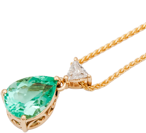 Emerald pendant gold silver diamond pendants in uk tjc emerald pendants online in uk aloadofball Choice Image