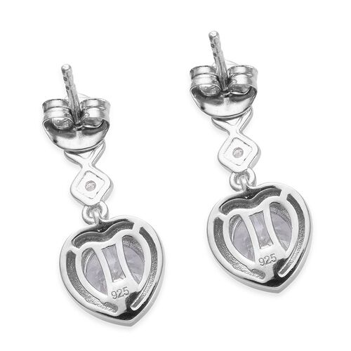 J Francis - Platinum Overlay Sterling Silver (Rnd) Earrings (with Push Back) Made with SWAROVSKI ZIRCONIA 2.69 Ct.