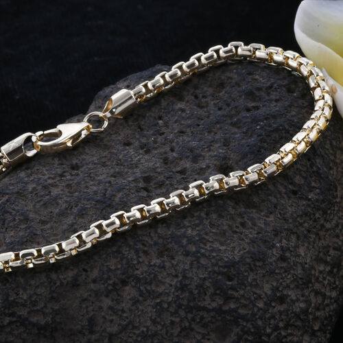 Royal Bali Collection 9K Yellow Gold Box Belcher Bracelet (Size 7.5), Gold wt 4.10 Gms.