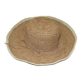 Handmade Summer Hat in Brown (Size 54x40cm)