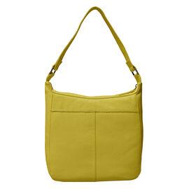 ASSOTS LONDON Bianca Genuine Pebble Grain Leather Slouchy Hobo Bag (Size 23x31x18cm) - Yellow