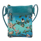 SUKRITI 100% Genuine Leather Traditional Hand Painted Bird Crossbody Bag (Size:15.75x19.81cm) with S